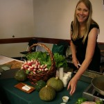 Monticello food demonstration at festival in 2010