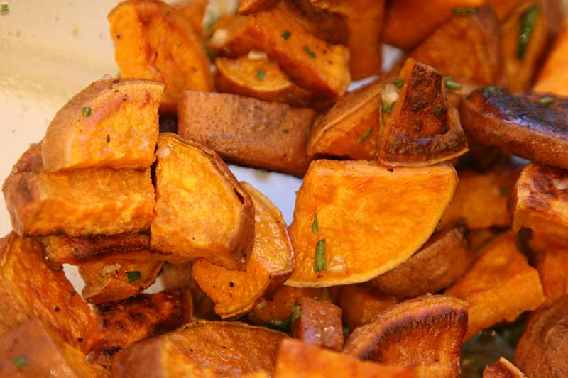 rosemary honey sweet potatoes