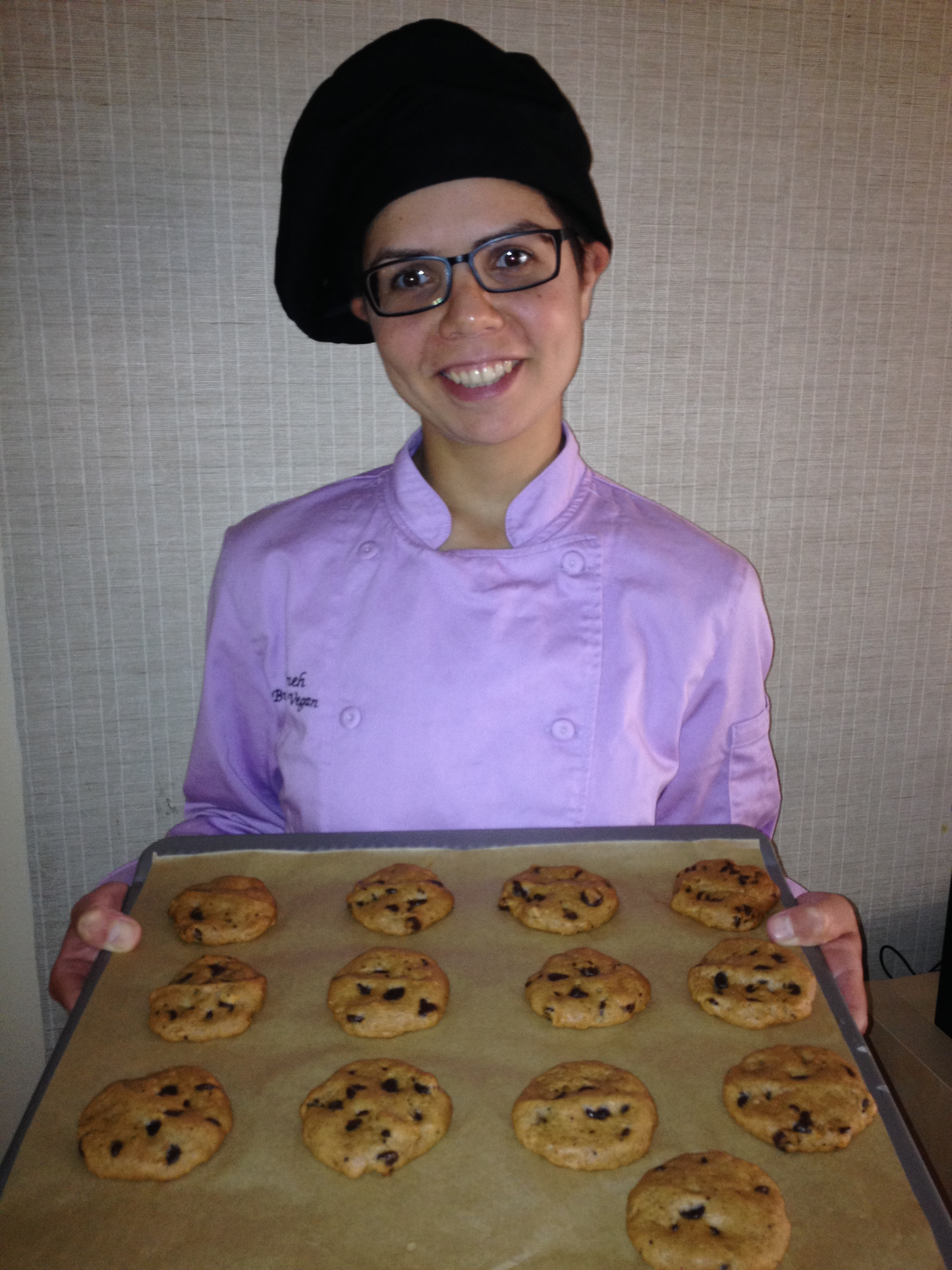 Parvaneh Keivanfar of Butterfly Vegan with Cookies