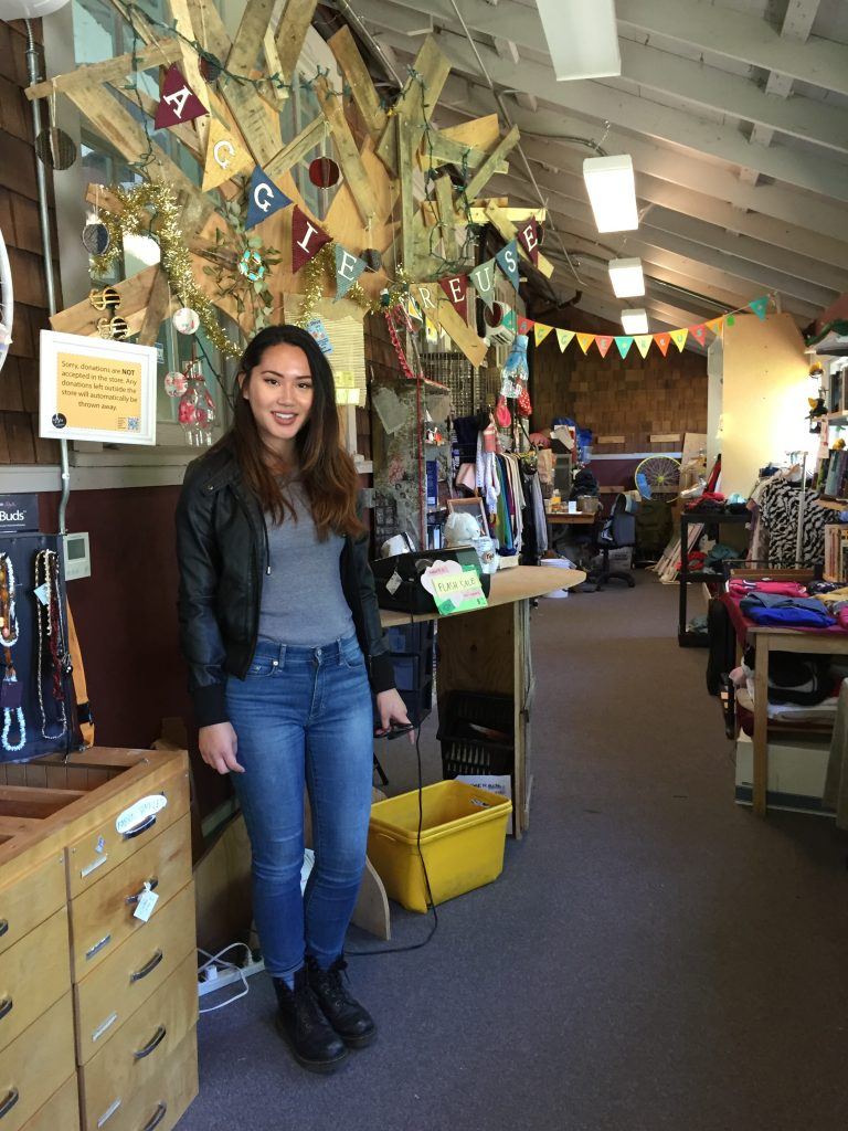 Nicole Garcia, Unit Director of the UC Davis Aggie Reuse Store