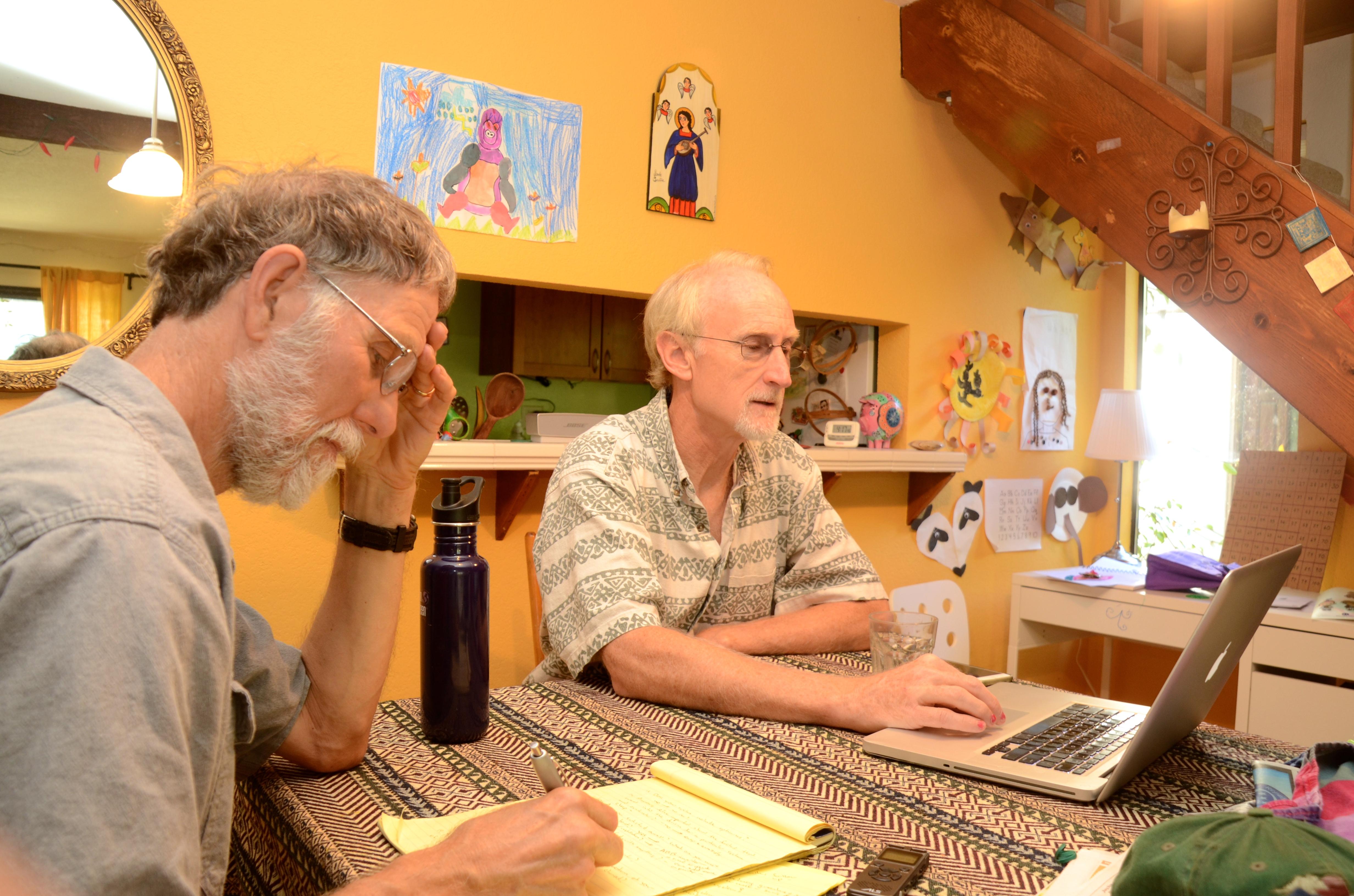 Steve Wheeler and Mike Kluk ponder solar