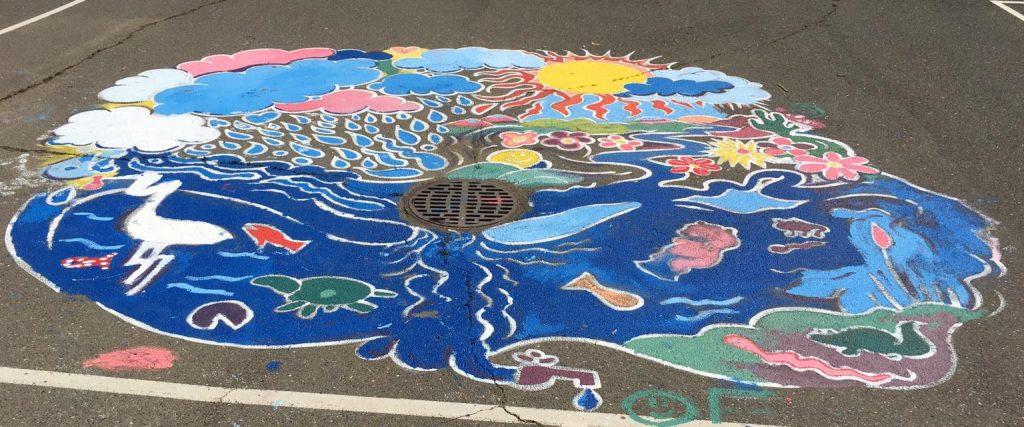 Chavez Elem Garden Program Storm Drain Mural
