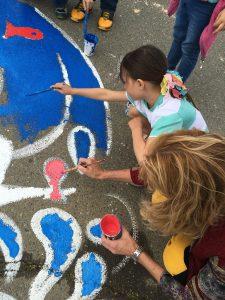 Chavez Elem Garden Program Storm Drain Mural Close Up