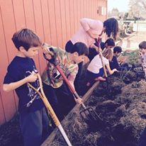 Chavez Elem Garden Program Pitchforks