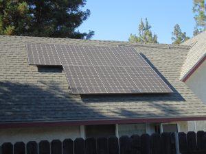 Allison Family Shaded Solar Panels
