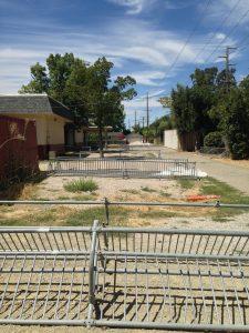 Holmes bike racks moved aside