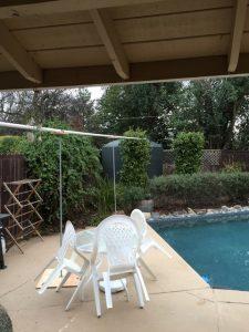 Jeff Tweddale's backyard 2800gal rain tank