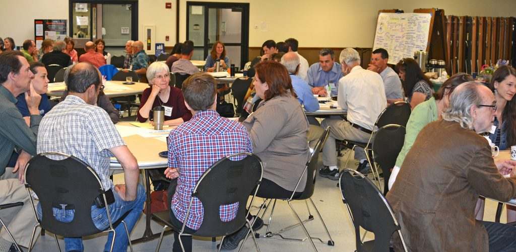 Over 70 participants converse at May 2016 Sustainability Summit