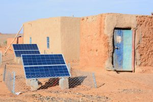 Moroccan home with solar panels Oct 2016