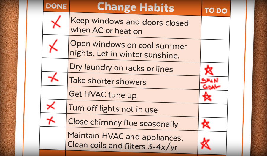 Home Energy Checklist Cool Davis