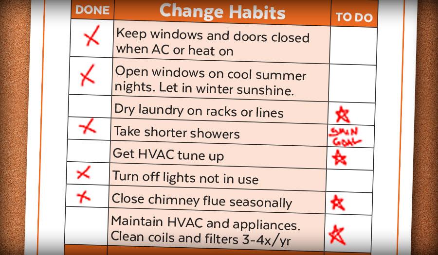 Home Energy Checklist Cool Davis