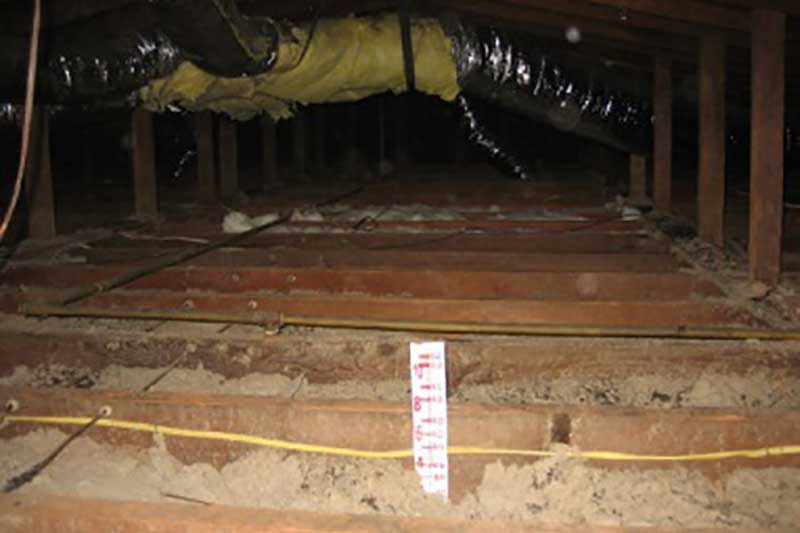 Before Attic Insulation