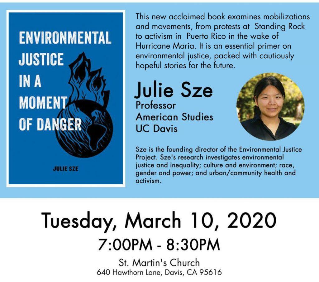 Poster for Julie Sze Talk