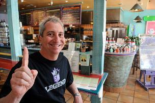 Bobby Coyote inside his restaurant