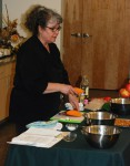 Chef Debra Chase teaches free Cooking Demos of vegetarian and Vegan dishes.  Yum!