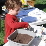 The festival had lots for children to do, including planting seeds.