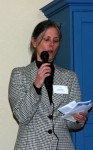 Temporary executive Director Christine Granger addressed the gathering of Cool Davis Donors.