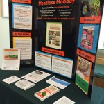 Faith communities share information about Meatless Monday, including yummy recipes, at their display!