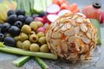 "Use cashews to make a delicious vegan ""cheese"" ball."