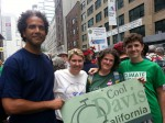 Kristin Heinemeier, her son Peter Holderbein, Rev. Kristin StoneKing & David Breaux met up at the People's Climate March in NYC on September 21, 2014.