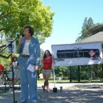 Senator Lois Wolk urges protesters to support upcoming legislation!