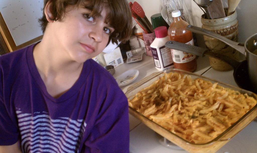 Vegan Yeshaia van Leeuween's vegan macaroni and cheese