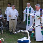 Blessing of the bikes at St. Martins Episcopal Church