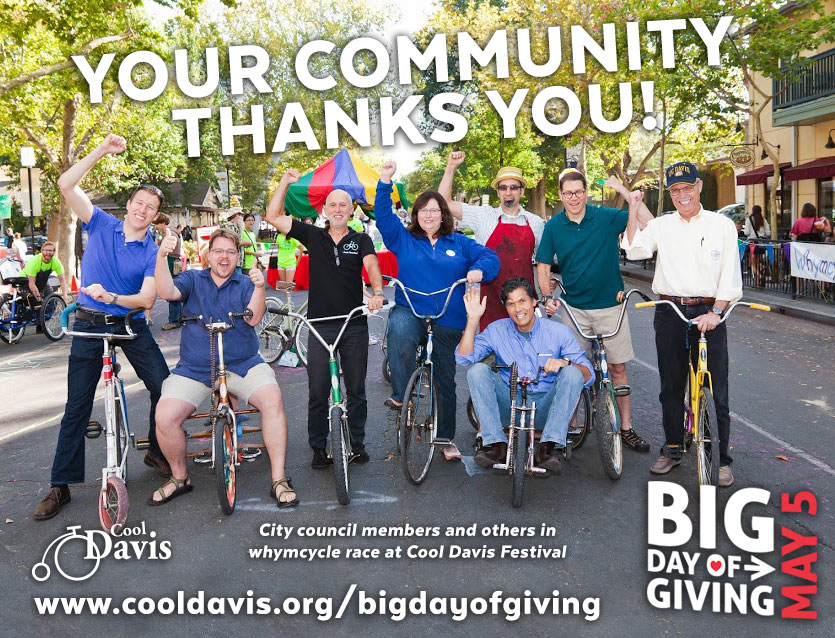 Thank you for giving to Cool Davis!