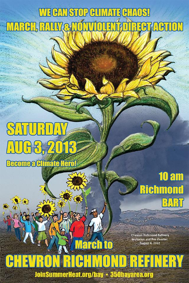 Poster for Richmond Summer Heat Action, 10am, August 3 2013