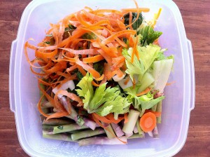 Use vegetable trimmings to make a delicious vegetable stock for your soups before composting!